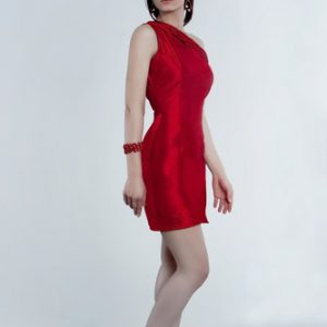 Red elegante coctail dress