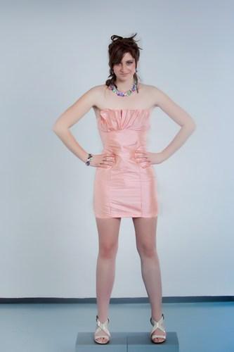 Apricot coctail dress