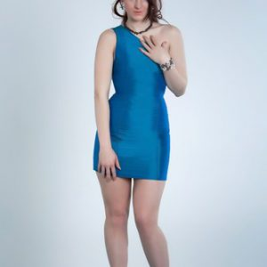 Blue elegante coctail dress