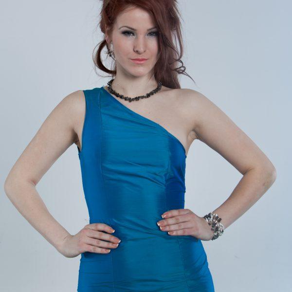 Blue elegante coctail dress