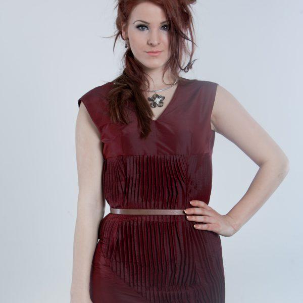 Bordeaux red coctail dress